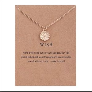 Jewelry - GOLD DIPPED WISH SUN FLOWER MINIMALIST NECKLACE
